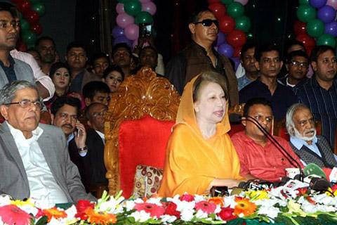 শেখ হাসিনার অধীনে নির্বাচনে বিএনপি যাবে না: খালেদা জিয়া