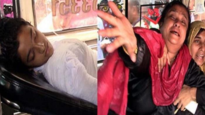 দগ্ধ নুসরাত জাহান রাফিকে ঢামেক হাসপাতালে আনা হয় অ্যাম্বুলেন্সে, কান্নায় ভেঙে পড়ছেন স্বজনরা