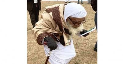 ১০৪ বছর বয়সী 'স্বপ্নবাজ তরুণ' ইসহাক মাস্টার এলেন সম্মেলনে...