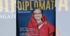 ডিপ্লোম্যাট'র প্রচ্ছদে 'শেখ হাসিনা: দ্য মাদার অব হিউম্যানিটি'
