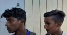 বখাটেপনা রোধে তিন ছাত্রের চুল কাটলপুলিশ