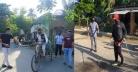 করোনামুক্ত করতে নিজনান্দুয়ালী গ্রামে ৩০ যুবকের উদ্যোগ