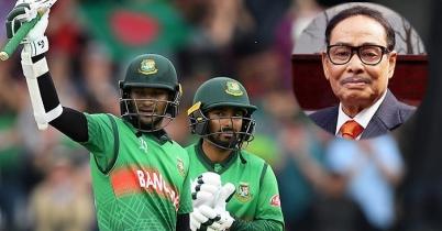 বাংলাদেশ ক্রিকেট দলকে এরশাদের অভিনন্দন